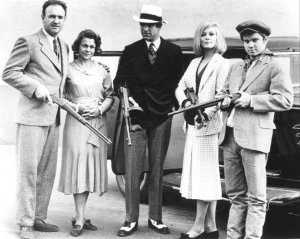 Buck, Blanche, Clyde, Bonnie and C.W. Moss from the film